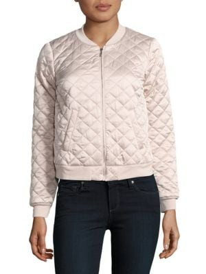 Love Poetry Quilted Bomber Jacket 500033532144