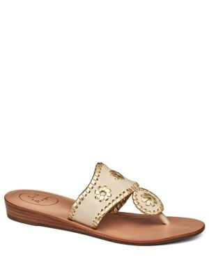 Capri Demi Wedge Leather Sandals by Jack Rogers