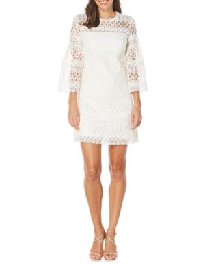 Venise Bell Sleeve Lace Dress by Laundry by Shelli Segal