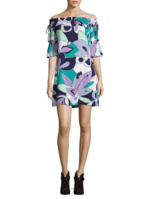 Floral-Print Off-The-Shoulder Dress by Laundry by Shelli Segal
