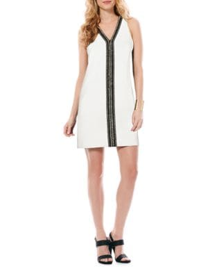 Beaded V-Neck Dress by Laundry by Shelli Segal