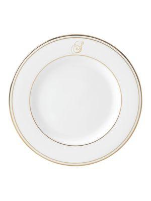 Federal Gold Monogrammed Script Salad Plate
