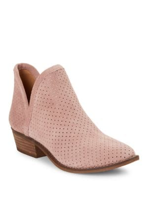 Buy Kambry Perforated Leather Ankle Boots by Lucky Brand online