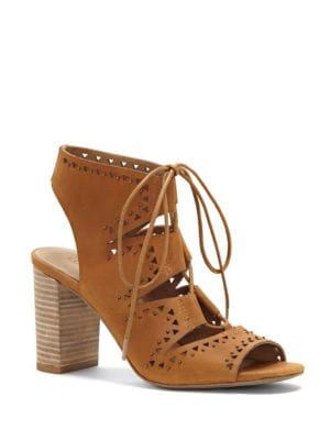 Tafia Leather Lace-Up Sandals by Lucky Brand