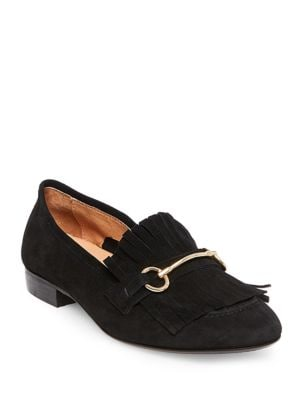 Suede Horse-Bit Loafers 500033588310