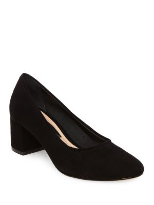 Tour Round-Toe Suede Pumps by Steven by Steve Madden