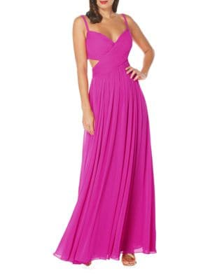 Solid Ruched Gown by Laundry by Shelli Segal