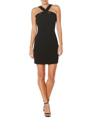Beaded Crepe Halter Dress by Laundry by Shelli Segal