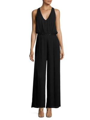 Embellished Pleated Jumpsuit by Laundry by Shelli Segal