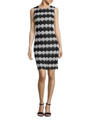 Circle-Lace Sleeveless Dress by Tommy Hilfiger