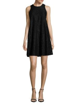 Sleeveless Floral Lace Trapeze Dress by Tommy Hilfiger