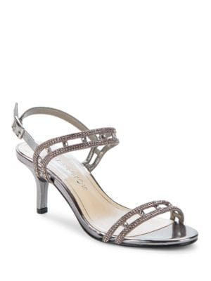 Happy Platino Metallic Slingback Sandals by Caparros