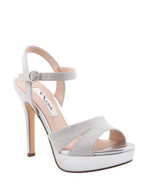 Shara Glittery Platform Sandals by Nina