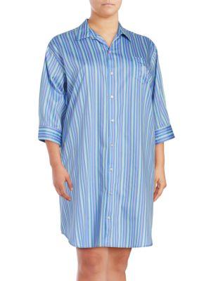 Plus Paisley Print Sleep Shirt by Lauren Ralph Lauren
