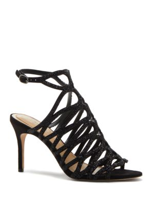 Plash Crystal Studded Stiletto Heel Sandals by Imagine Vince Camuto