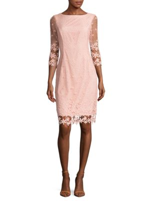 Floral Lace Overlay Dress by Nue By Shani
