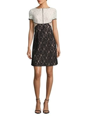 Short Sleeve Lace Dress by Nue By Shani