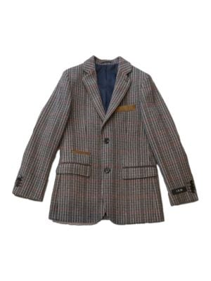 Plaid Wool Blend Blazer