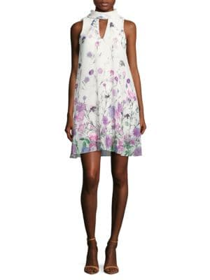 Floral Mockneck Dress by Ivanka Trump