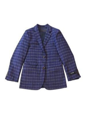 Plaid TwoButton Blazer