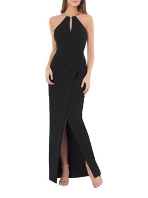 Halterneck Column Gown by Js Collections