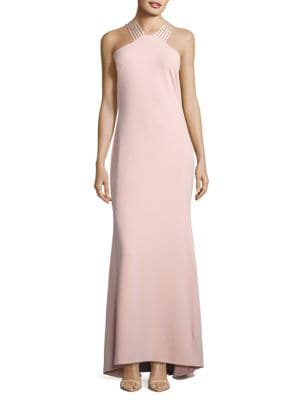 Crepe Halter Gown by Calvin Klein