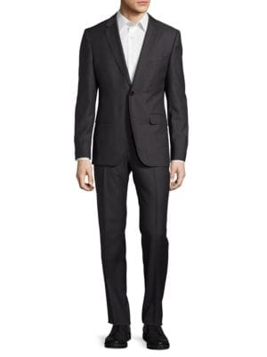 Two-Button Virgin Wool-Blend Suit by Hugo