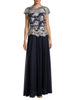 Embroidered Ankle-Length Dress by Decode 1.8