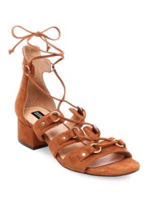 Eldy Snakeskin-Embossed Lace-Up Sandals by Design Lab Lord & Taylor