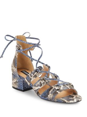 Snake-Skin Gladiator-Inspired Sandals by Design Lab Lord & Taylor