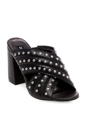Kim Studded Crisscross Mules by Design Lab Lord & Taylor