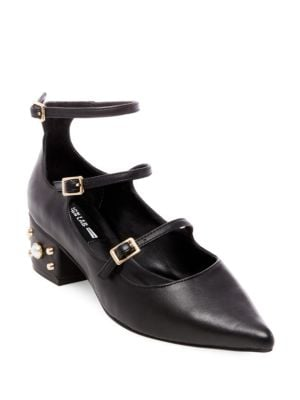 Studded Ankle-Strap Pumps by Design Lab Lord & Taylor