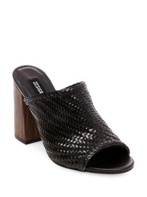 Nikki Open Toe Woven Mules by Design Lab Lord & Taylor