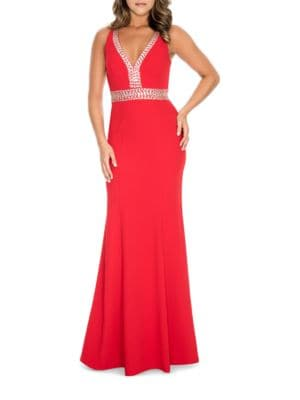 Beaded Fishtail Gown by Decode 1.8