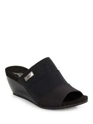 Chanay Textile Slip-On Wedges by Anne Klein