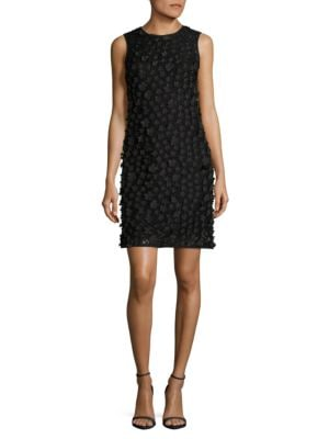 Floral Applique Sleeveless Sheath Dress by Karl Lagerfeld Paris