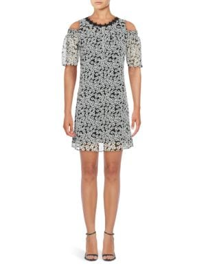 Floral Cold-Shoulder Dress by Taylor