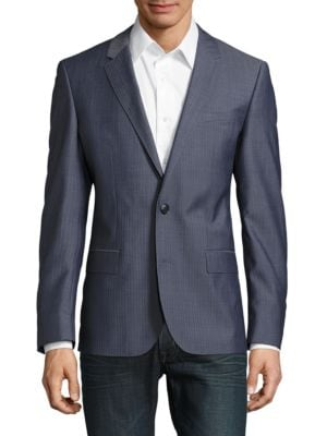 Wool Long-Sleeve Sportcoat by Hugo