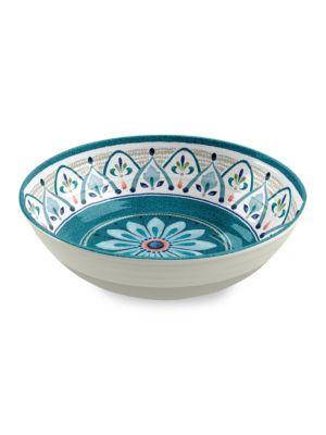 Moroccan Medallion Melamine Dinner Bowl