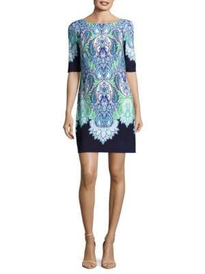 Patterned Shift Dress by Eliza J