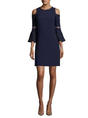Textured Bell Sleeve Sheath Dress by Eliza J