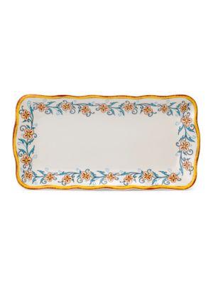 Duomo FloralPainted Ceramic Appetizer Plate