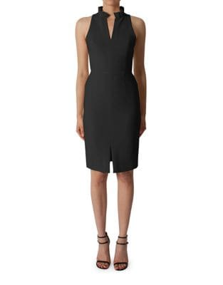 Solid Sleeveless Split Dress by Black Halo
