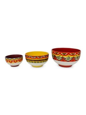 Galcia ThreePiece Ceramic Bowl Set
