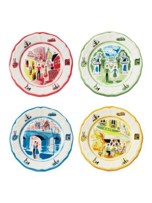 An American In Paris Salad Plates Set of 4