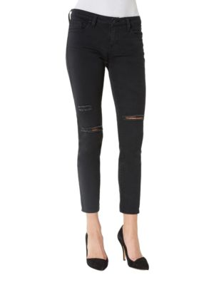 Hydra Five-Pocket Distressed Cropped Jeans by Big Star