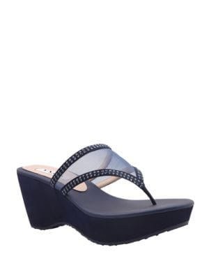 Dalyne Synthetic Suede Sandals by Nina