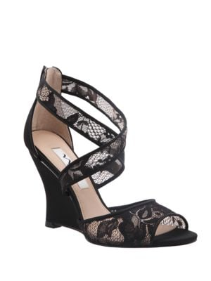 Buy Elyana Peep Toe Wedge Sandals by Nina online
