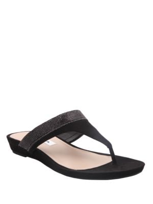 Micayla Suede Thong Sandals by Nina