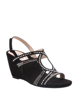 Stasha Chic Wedge Sandals by Nina